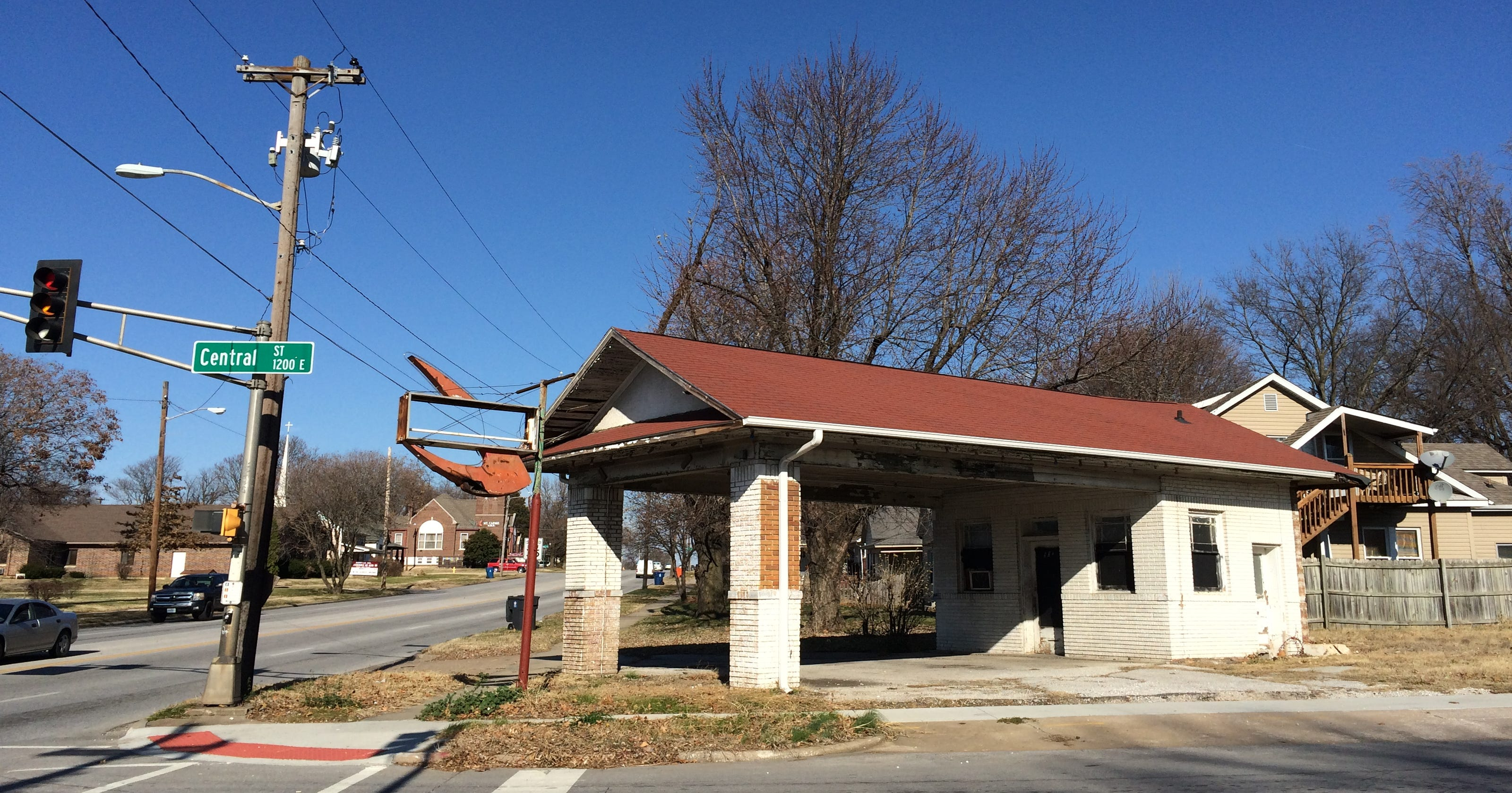 What's happening to that vintage gas station near OTC?