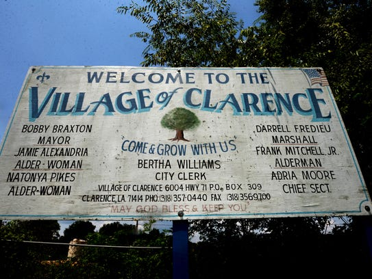 The sign in Clarence, Louisiana still has the old mayor's