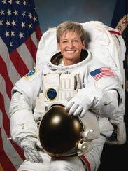 Iowa-born Peggy Whitson has set an American record