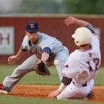 Ouachita's Caleb Armstrong (12) slides for second base during a game at Lions Field. Armstrong will continue his baseball career at UL Lafayette.
