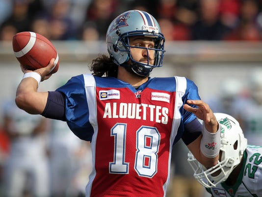Former Tennessee QB Crompton thriving in CFL
