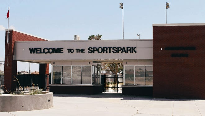 The entrance to the Sportspark is shown in 2013. The project is set to be completed by May 3, officials said.
