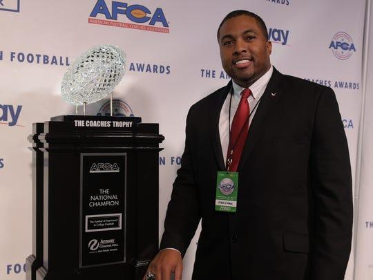 North Carolina Central Head Coach Jerry Mack poses
