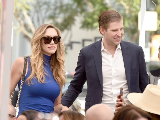 Eric Trump and his wife Lara on March 2, 2017 in Los