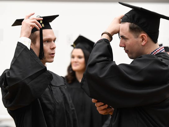 Soon to be graduates Luke Powell (left) and John Powers