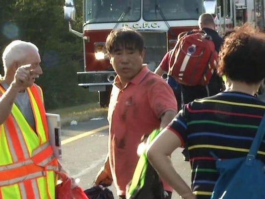 driver at scene bus crash