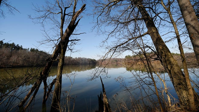 This view of Lake Williams less than a mile in on trail No.4 from the George Street parking lot in William H. Kain County Park.