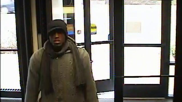 A man suspected of robbing a PNC Bank at 1714 N. Meridian St. on Tuesday.