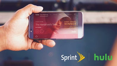 Sprint is partnering with Hulu to offer the video service for free to Sprint subscribers.