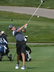 Drew Lind of host Clear Fork drives the ball during the Colt Classic at Deer Ridge.