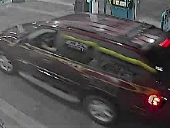Vehicle allegedly used in Valero gas station robbery