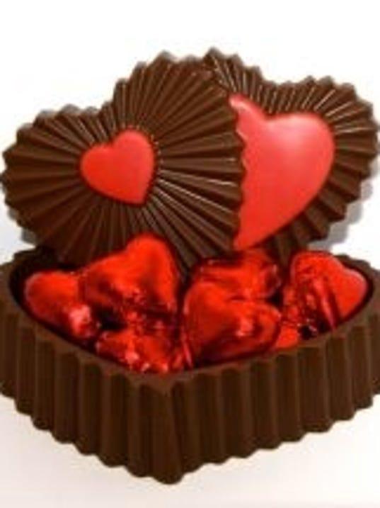 Chocolate box with chcolates