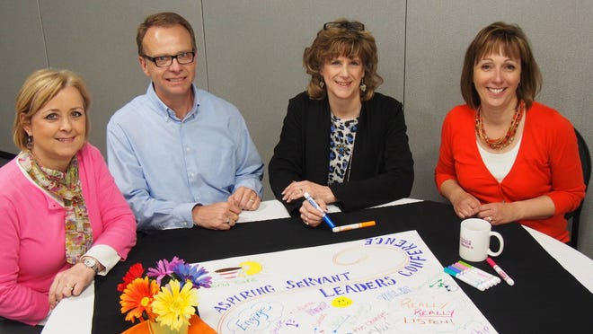 Sophia Foundation members, from left, are: Partnership Development Director Barb Senn; Board Member William Wuske; Program Coordinator and Board Member Cathy Wolfe; and Executive Director Christa Williams.