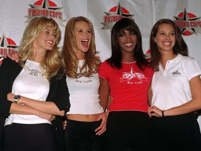Dream team! Claudia Schiffer, Elle MacPherson, Naomi