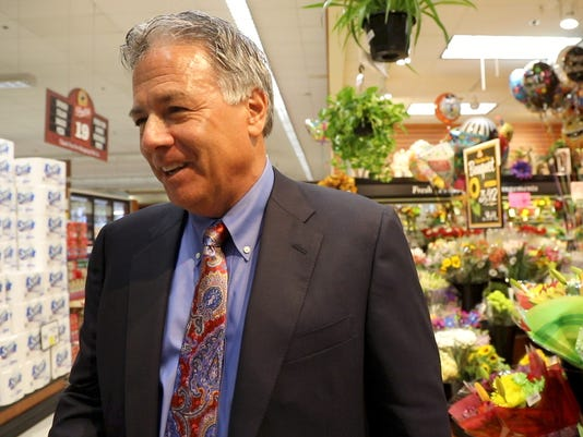 Larry Inserra, Chairman and CEO of Inserra Supermarkets at the remodeled Ramsey ShopRite..