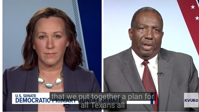 Democratic Senate candidates MJ Hegar and Royce West debated on KVUE Monday ahead of the party's July 14 runoff election.