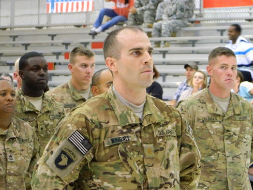 Early Saturday morning, 118 Screaming Eagles of the 159th Combat Aviation Brigade 'Wings of Thunder' returned home to Fort Campbell following a nine-month deployment to Afghanistan.