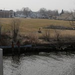The Morgan Partners property occupies both sides of Oregon to the Fox River in Oshkosh.