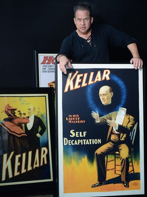 Magician Bobby Borgia is shown Wednesday at Kellar's A Modern Magic & Comedy Club, formerly Jr.'s Last Laugh Comedy Club in Erie.The club pays homage to Harry Kellar, the famous magician born in Erie in 1849.