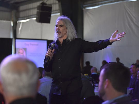 Guy Penrod sings at the 14th annual Vero Beach Prayer Breakfast at the Indian River County Fairgrounds on Thursday, March 22, 2018, in Indian River County. Guest speakers were Evangelist Alveda King, niece of Rev. Martin Luther King Jr.. Dinesh D'Souza, best selling author, speaker and scholar. Guy Penrod, former lead singer of the Gaither Vocal Band.