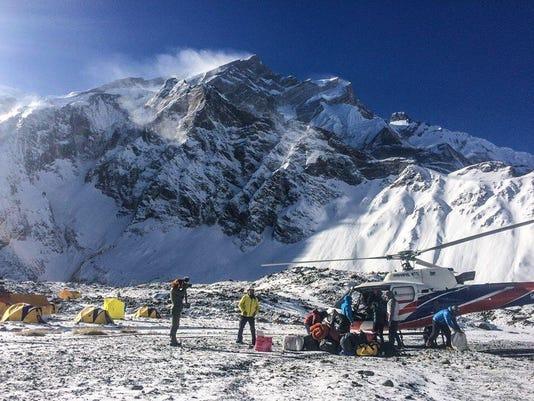 Nepal climbing