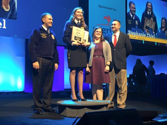 Plymouth High School graduate Stephanie Thiel was named