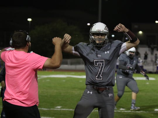 Rancho Mirage won their first round playoff game against Jurupa Hills in Rancho Mirage on Friday, November 10, 2017.