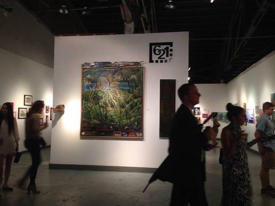 A king-size painting by Mark Messersmith at 621 Gallery