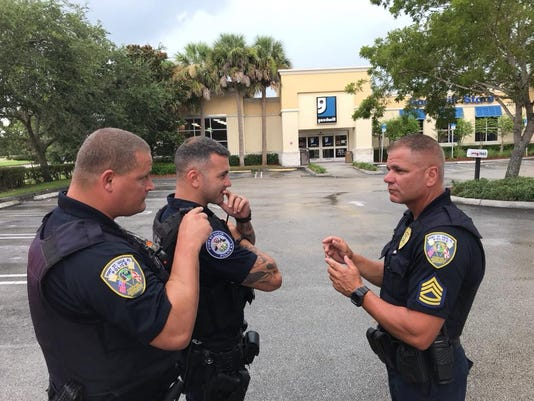 A grenade was dropped off at a Goodwill, located in Port St. Lucie on Friday afternoon.