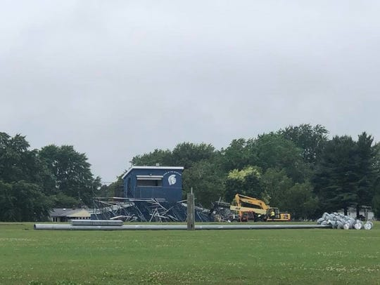 Gates Chili's football stadium is being reconstructed.