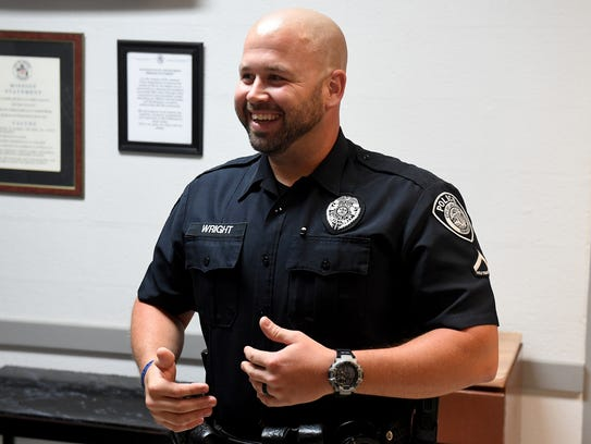 Jackson Police Officer Lance Wright was awarded a $10,000