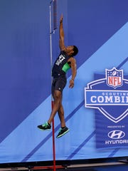 The high jump is a way to measure a players' explosiveness,