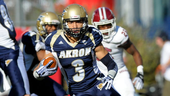 Akron wide receiver L.T. Smith, a senior, gives the Zips a reliable downfield threat.