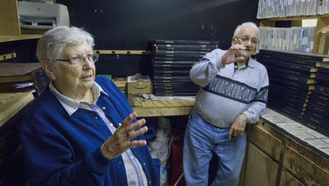 Bettty and Frank Stumbo are  shown in this 2011 News Journal file photo at their Ontario Tribune newspaper office.