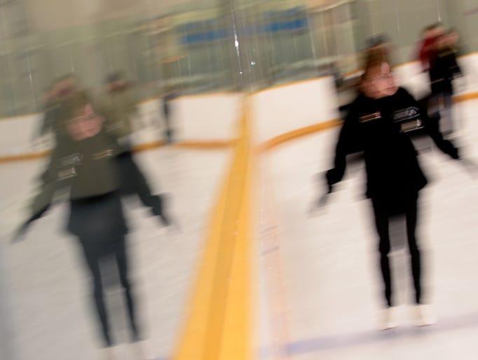 Chloe Polzin skates on Thursday, Jan 5. 2017 during