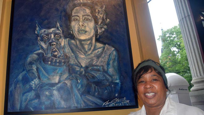 Edna Stewart is one of four artists on exhibit at the Bank of the Arts on Middle Street in New Bern for its annual Juneteenth show, one of many African American related shows and programs provided by groups such as the Craven Arts Council.