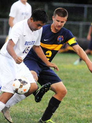 Bryan Hernandez had one of the Butler goals on Wednesday evening as the Bulldogs knocked off Pequannock 4-3 in overtime.