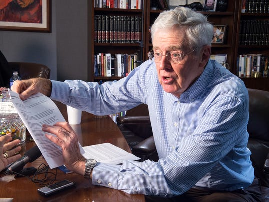 Charles koch 39 s network launches new fight to keep donors for David koch usa