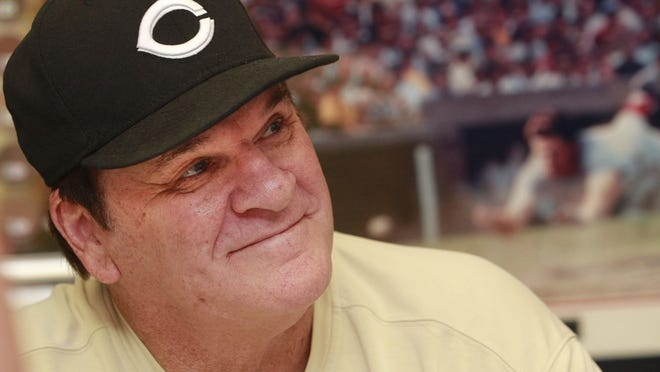 In this July 26, 2011, file photo, former Cincinnati Reds player Pete Rose signs autographs at the Collectors Den in at a mall in Indianapolis. Rose has submitted a new request to be reinstated to baseball, according to new Commissioner Rob Manfred.