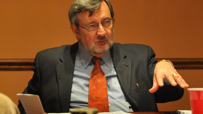 Former U.S. Rep. Dave Obey, D-Wausau, speaks with the editorial board of the Wausau Daily Herald, Friday, June 24, 2011.