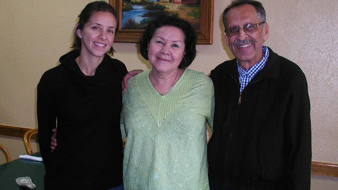 The family team that keeps Vallarta Restaurant going includesmanager Laura Espinoza, at left, and her parents, Juana and Jose A. Espinoza, the owners.
