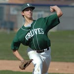 Junior Max Novick hurled a complete-game 7-0 shutout Monday for Groves against Farmington Harrison.
