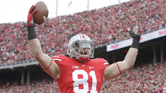 """Ohio State tight end Nick Vannett said the talent between the Buckeyes and Alabama Crimson Tide is """"about the same."""""""
