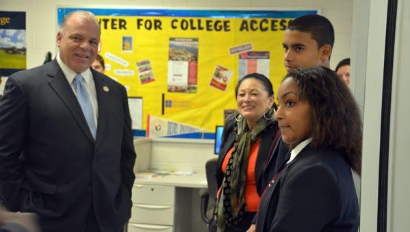 State Senate President Steve Sweeney tours LEAP Academy Charter School