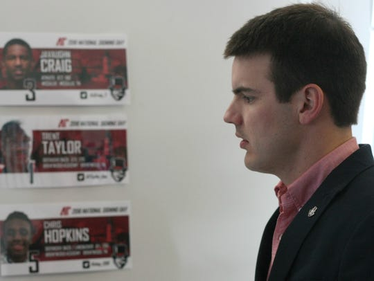 New Austin Peay football coach Will Healy looks over