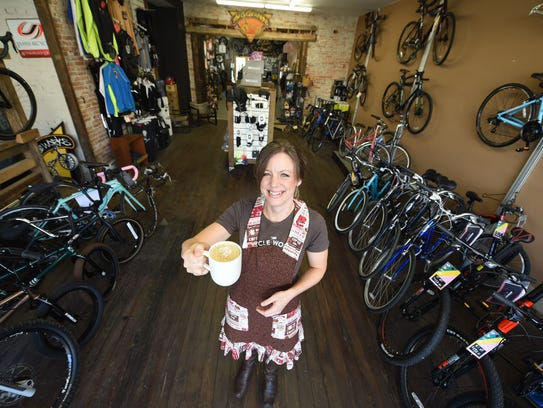 Marcia Blome is the barista and manager of the Cycle