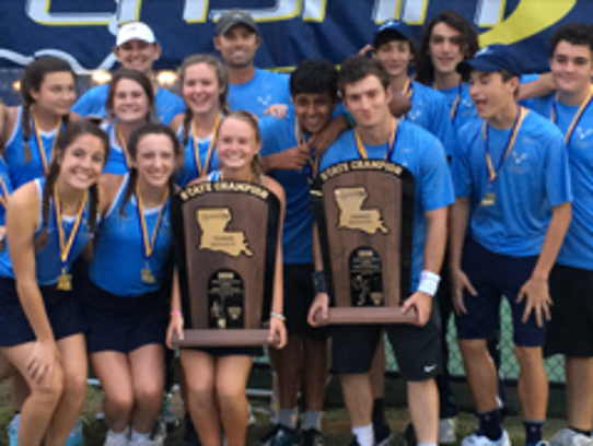 The Ascension Episcopal boys and girls tennis teams