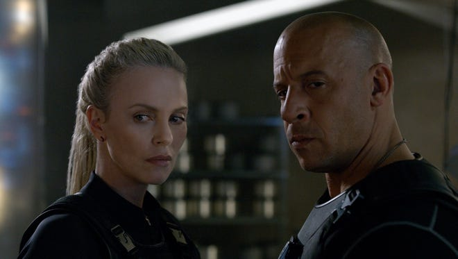 """Charlize Theron and Vin Diesel in """"The Fate of the Furious."""""""
