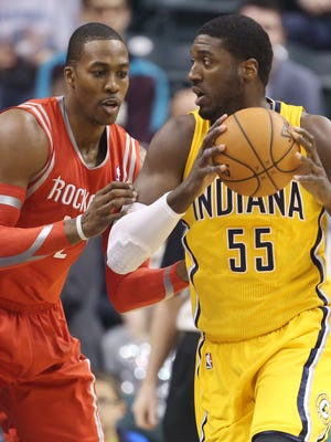 Pacers center Roy Hibbert and Rockets center Dwight Howard are All-Star reserves.