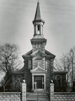 The original St. Helen Catholic Church, erected in 1898.